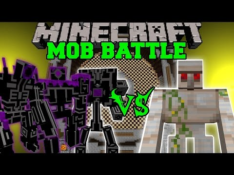 EPIC ROBOTS VS MUTANT IRON GOLEM HERCULES BEETLE Minecraft Mob Battles Mods