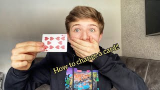 How to INSTANTLY change a card! 😱