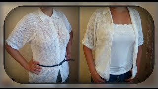 рубашка - блузка, вязание крючком