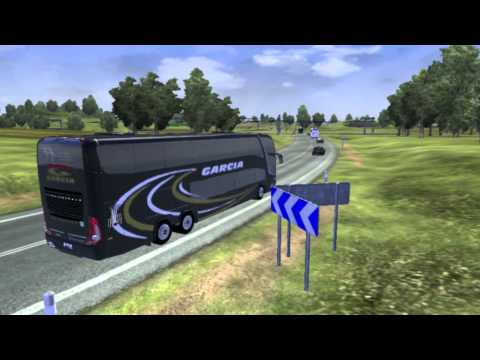 Euro Truck Simulator 2 bus trip to Paris with Marcopolo G7-1800DD 6x2 FINAL