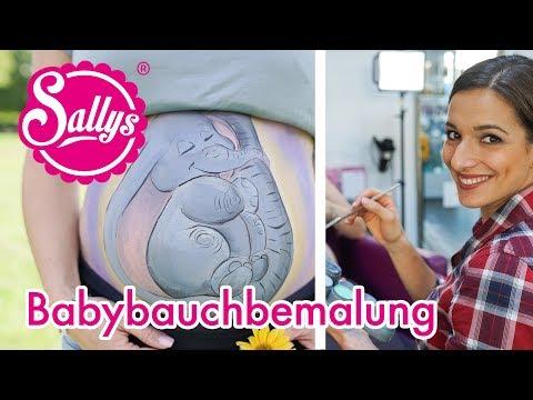 schwanger / Babybauch Bemalung / Step by Step / DIY / Baby Überraschungsparty