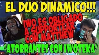 IWO ES OBLIGADO A SUPPORTEAR JUNTO A MATTHEW - DUO DINAMICO IWOMATT!!!