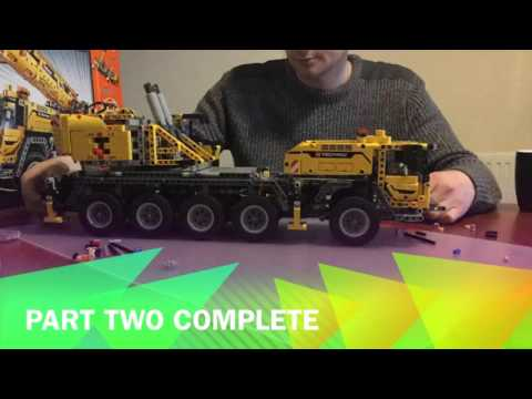 Lego Technic Crane MK 2 (42009) Time Lapse build and demonstration