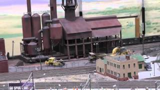 HO scale USA  trains, cars, and  spectacular HO scale fire drill, part 3 of 3 at MiWuLa, Hamburg