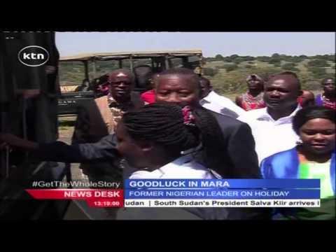 Former Nigerian President Good Luck Jonathan in Maasai Mara