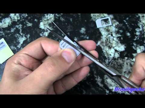 Transformando SIM Card em Micro SIM Card