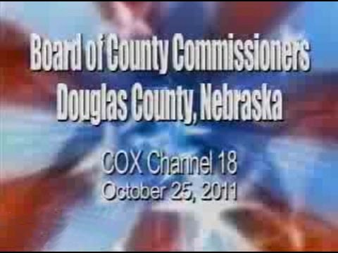 Board of County Commissioners, Douglas County Nebraska, October 25, 2011 Meeting