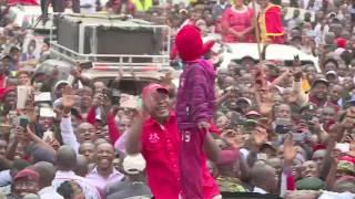 President Uhuru Kenyatta tours Kajiado County.