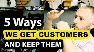 5 Ways we get customers in our repair shop and how we started.