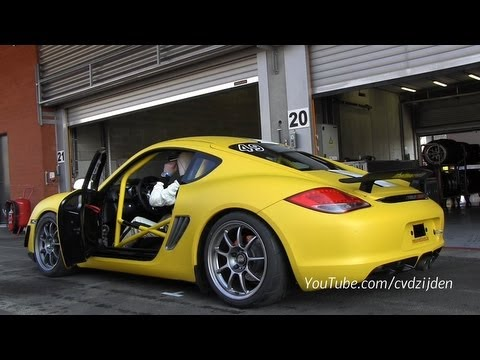 Modified Porsche Cayman R - Loud Sound on the Track!