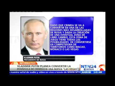 Putin quiere convertir a Crimea en la próxima 'Las Vegas' de Rusia