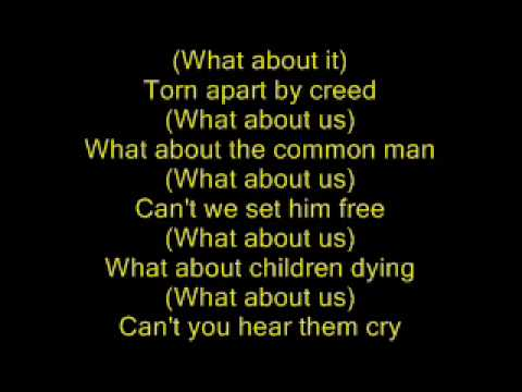 Michael Jackson - Earth song - lyrics