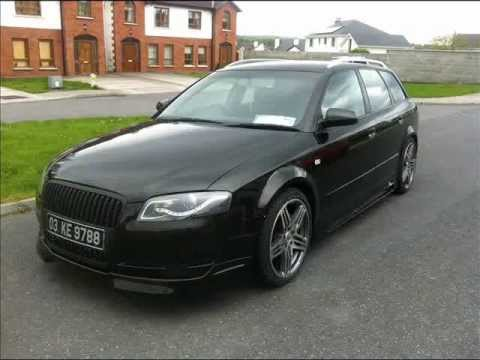 Audi a4 b6 front change to b7 with rieger kit, stuning,real tuning (part 01)