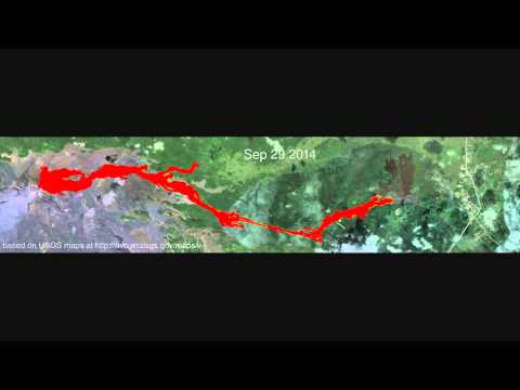 Animation of USGS maps of the June 27th lava flow (updated Jan 6, 2015)