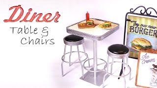 Doll Cafe/Diner Furniture Tutorial (Table & Chairs)