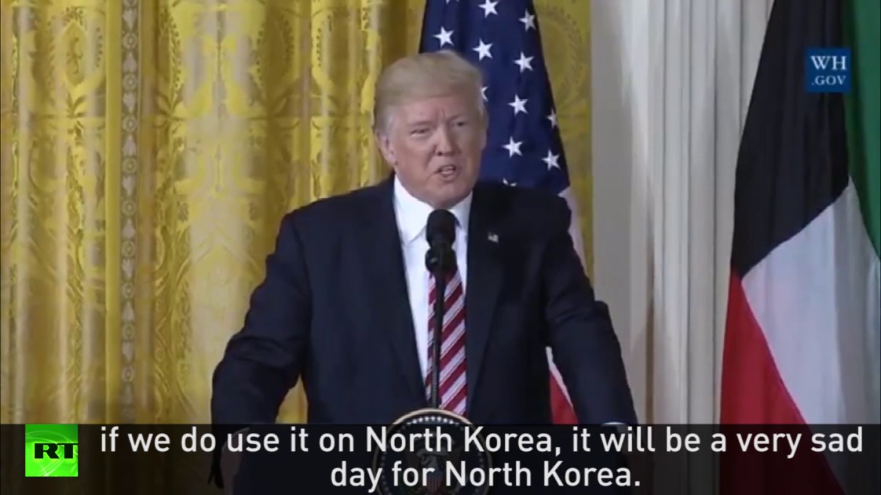 "Trump: ""Sad day for North Korea if US takes military action"""