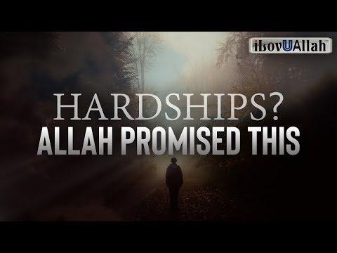 HARDSHIPS? ALLAH PROMISED THIS | Mohamed Hoblos thumbnail