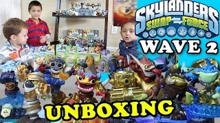 Mega Unboxing w/ Rip Tide, Scorp, Sprocket, Chop Chop + More (Skylanders Swap Force Wave 2 Toys)