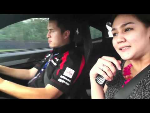 Very Funny Video Rifat and Sissy with Ferrari F430 Scuderia at Sentul Circuit.m4v