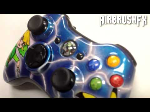AirbrushFX� | Custom Painted / Airbrushed xbox 360 controller Pikachu zelda