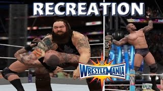 WWE 2K17 RECREATION: RANDY ORTON VS BRAY WYATT   WRESTLEMANIA 33 HIGHLIGHTS