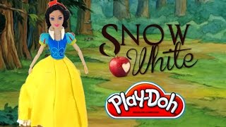 Play Doh Disney princess collection dress up Snow White. HD