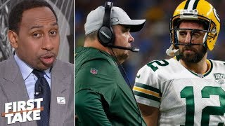 Aaron Rodgers 'quit on Mike McCarthy' - Stephen A. | First Take