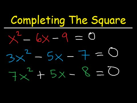 Completing The Square Method And Solving Quadratic Equations Algebra 2