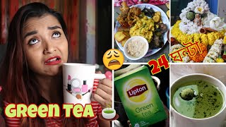 I Drank Only GREEN TEA FOR 24 HOURS - খালি পেটে শিবরাত্রির KHICHURI রান্না, অদ্ভুত CHALLENGE India
