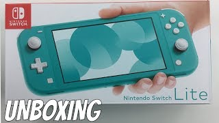 TURQUOISE NINTENDO SWITCH LITE UNBOXING