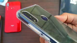 Redmi Note 7 Pro | Original Transparent Back Cover | Clear Back Cover with Camera Lens Protection