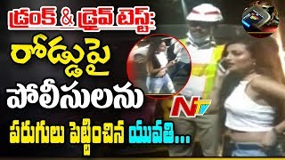 Drunken Women Hulchul in Banjara Hills || Drunk and Drive Test