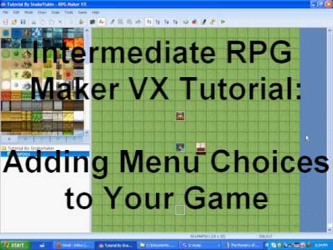 RPG Maker Tutorial:  Adding Menu Choices
