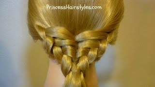 Waffle Cone Ponytail, Easy Hairstyle