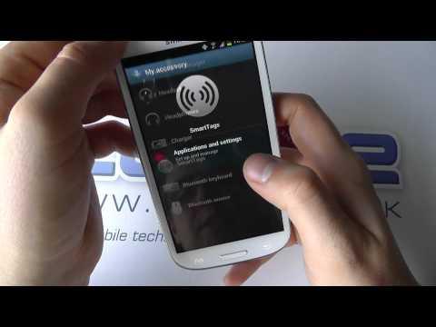 Samsung Galaxy S III NFC demo with Sony Xperia NFC SmartTags
