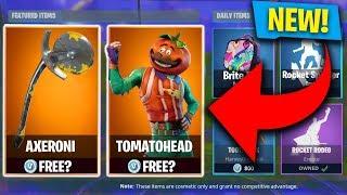 FIRST LOOK! *NEW* LEGENDARY TomatoHead SKIN & Axeron Pickaxe in Fortnite! (Fortnite: Battle Royale)