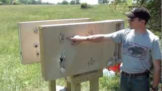 Home Defense: Interior wall penetration test with 12 gauge shotgun