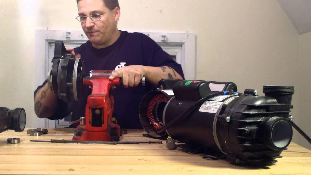Cal spas prc9093x dually reverse impeller removal youtube for Cal spa dually pump motor