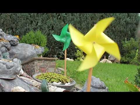 Dekoration für Garten selber machen . Wetterfeste Windrädchen .