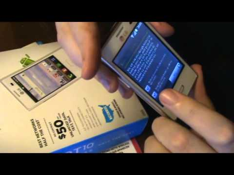 Unboxing LG L35G Logic & setting up Optimus Logic L35G NET10