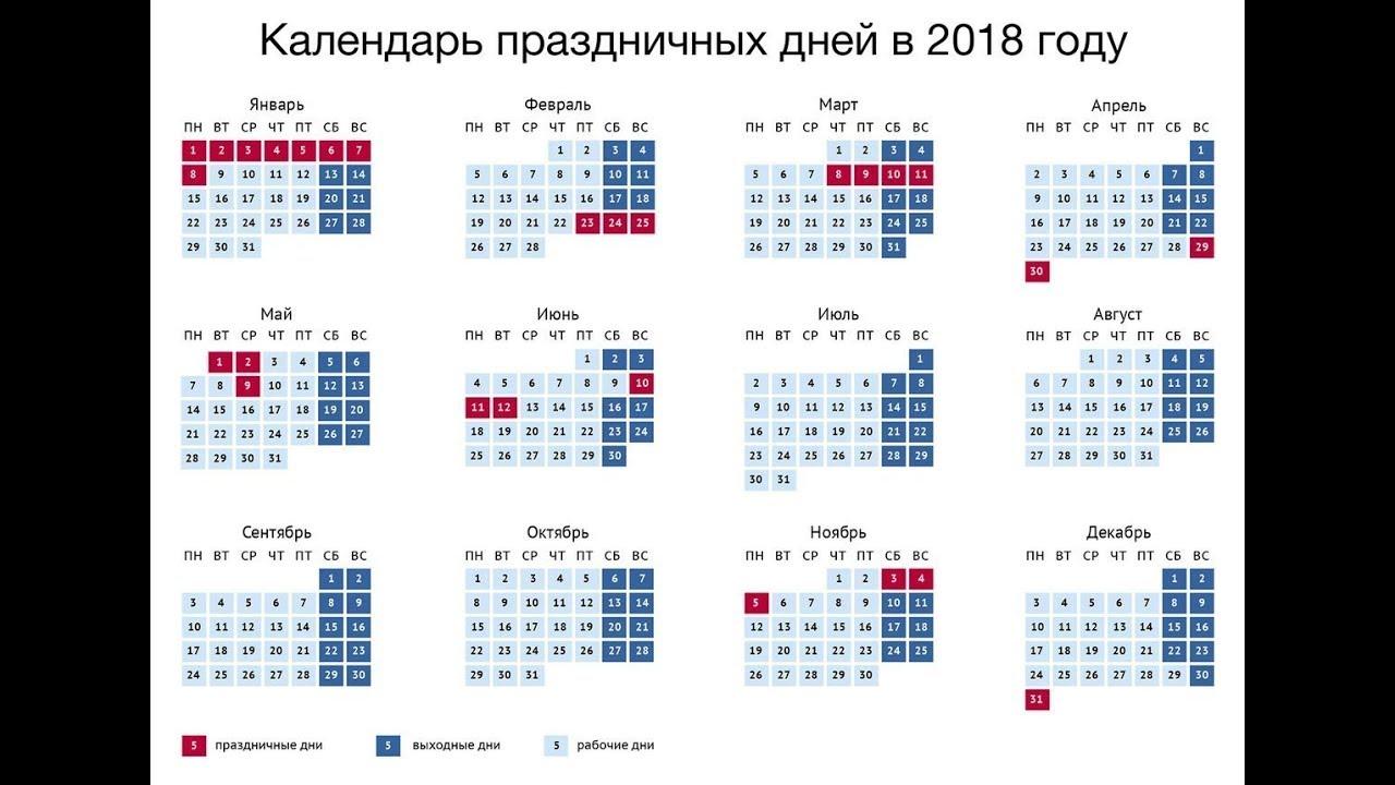 Апрель 2018 года: календарь, праздники, выходные