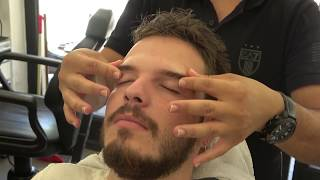 ASMR Turkish Barber Face,Head and Body Massage 149 💆‍♂️👍💈
