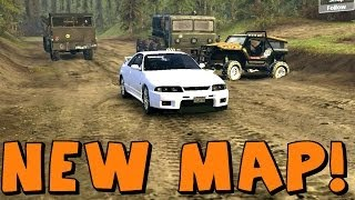 SpinTires | New Map [ChocoMap] First Exploration And New Vehicles!