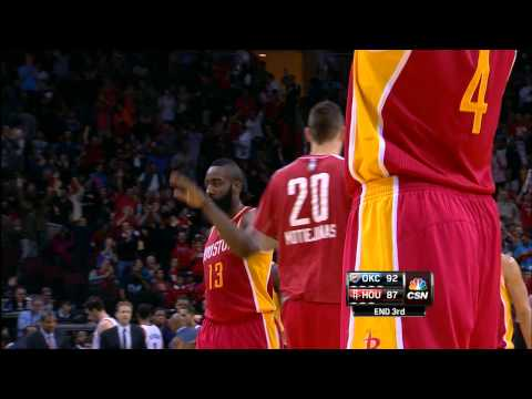 James Harden Beats the Buzzer From Half-Court