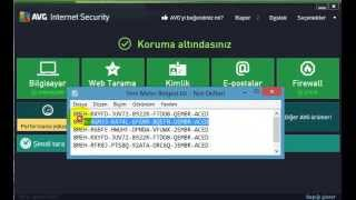 Avg İnternet Security 2015  lisans kodu