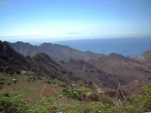 Paisaje precioso caminito de Anaga. Tenerife