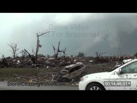 5/20/2013 Moore, OK EF5 Tornado and deadly aftermath B-Roll