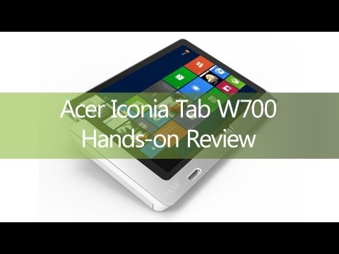 Acer Iconia Tab W700 Hands-on Review - TabletGuide.nl