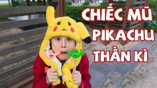 Chiếc Mũ Pikachu Thần Kì - Trò Chơi Ăn Kẹo Thổi Con Vẹt ❤ KN CHENO Chị Hằng