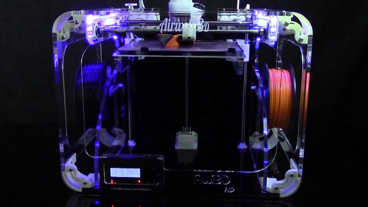 Airwolf 3D HD2x 3D Printer - YouTube